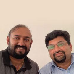 Janakiraman TK, CTO,Harish Kashyap, CEO