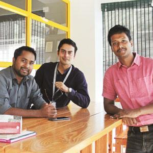 (From Left to Right) Abinash Saikia, Vishwa Vijoyendra Narayan, Satya Kishore Gontina,Co-Founders