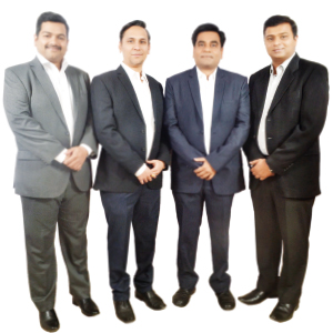 Tushar Dawalkar, Director- Sales, Manish Mutha, Director- Finance, Navin Mahadule, Director- SCM, Vrushank Mehta,Director - Technical (Left To Right),Director