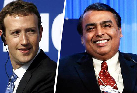 Reliance Jio's 9.99% stake bought by Facebook for Rs 43,574 crore